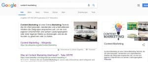 "Google-Suche ""Content Marketing"""